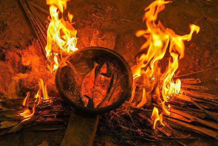 campfire bbq chicken