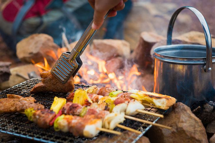 campfire and bbq