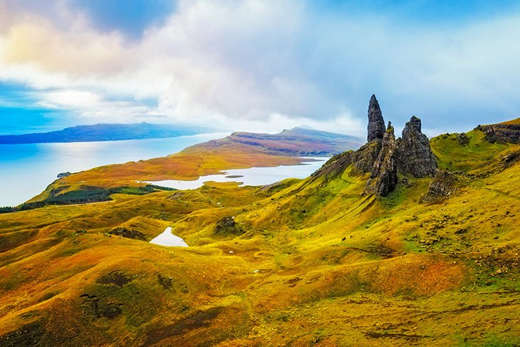 Hiking The Storr in the Isle of Skye Scotland